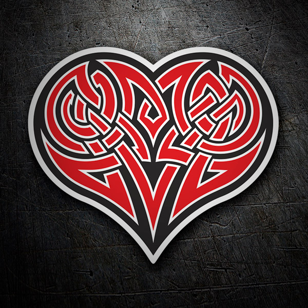 Car and Motorbike Stickers: Tribal Heart