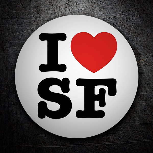 Car and Motorbike Stickers: I love SF