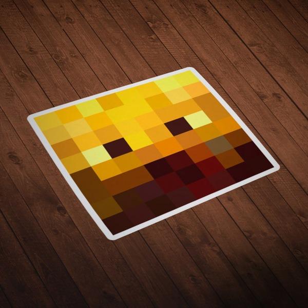 Wall Stickers: Minecraft Skin head 3