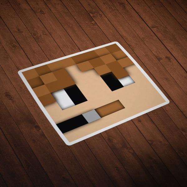 Wall Stickers: Minecraft Skin head 5