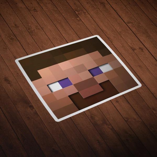 Wall Stickers: Minecraft Skin head 6