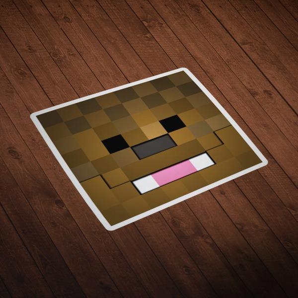 Wall Stickers: Minecraft Skin head 9