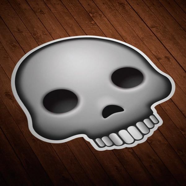 Car and Motorbike Stickers: Human skull