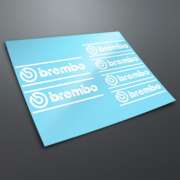 Car and Motorbike Stickers: Brembo vinyl stickers Kit 1