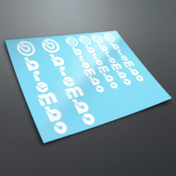 Car and Motorbike Stickers: Kit stickers Vertical Brembo