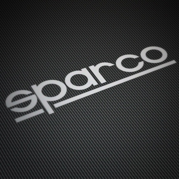 Car and Motorbike Stickers: Sparco thin