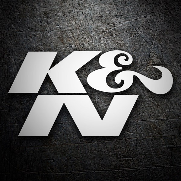 Car and Motorbike Stickers: K&N Logo