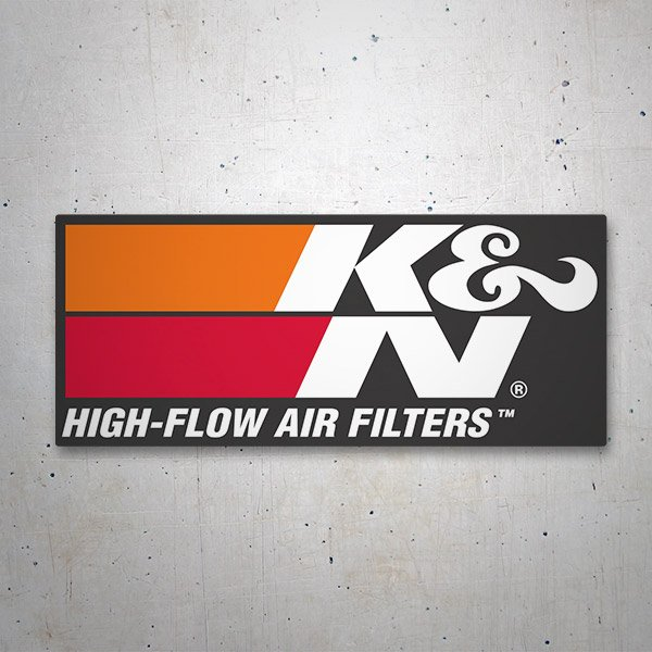 Car and Motorbike Stickers: K&N High-Flow Air Filters 2