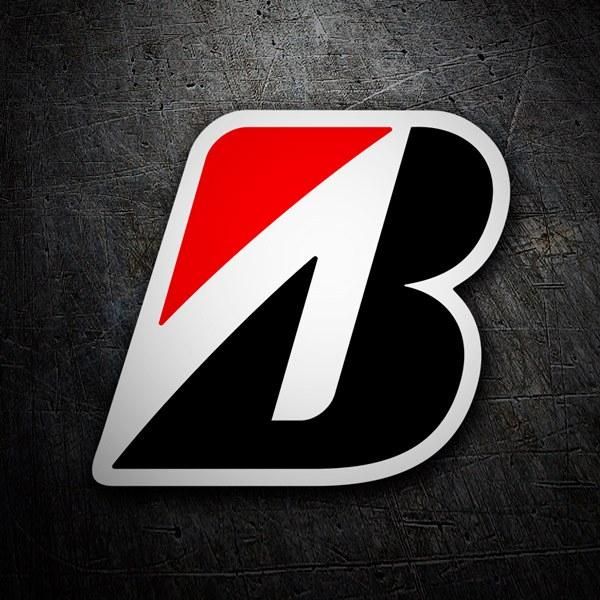 Car and Motorbike Stickers: Bridgestone logo