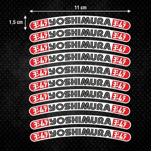 Car and Motorbike Stickers: 10 stickers rims kit Yoshimura