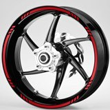 Car and Motorbike Stickers: MotoGP Style 3 rim stripes kit 2 wheels
