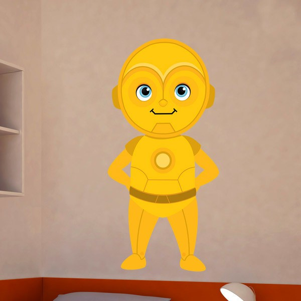 Stickers for Kids: C3po smiling