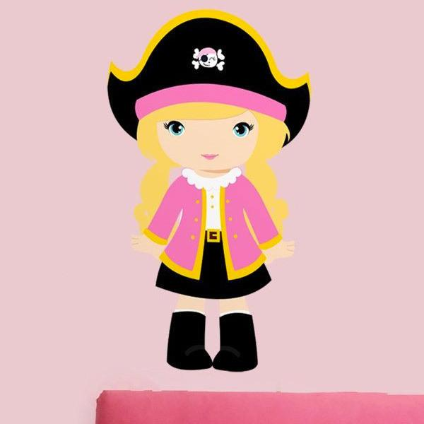 Stickers for Kids: Pink captain