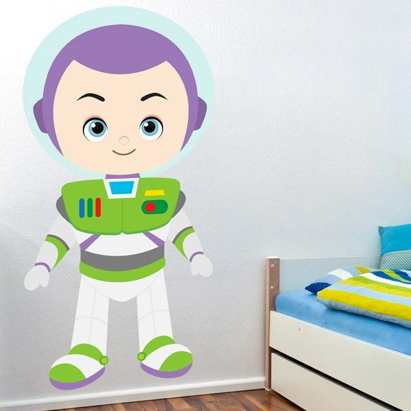 buzz lightyear new toy story buzz lightyear large wall stickers removeble