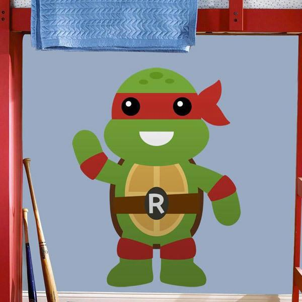 Stickers for Kids: Ninja turtle Rafhael