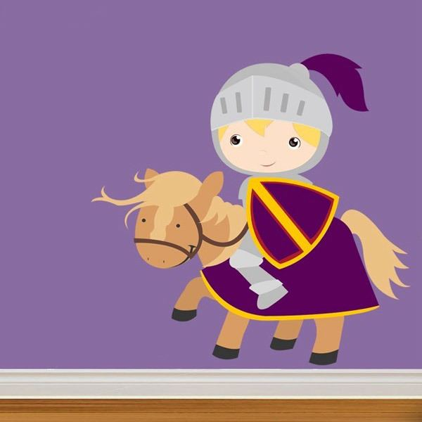 Stickers for Kids: knight Purple