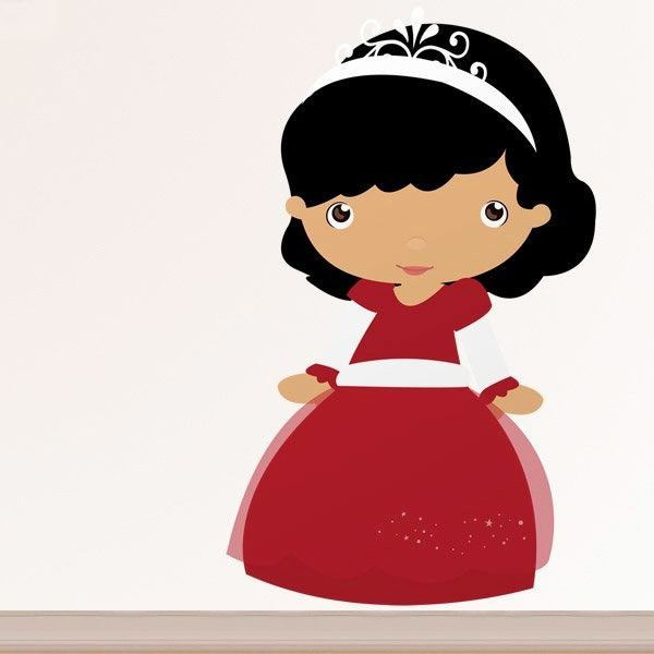 Stickers for Kids: Brunette princess