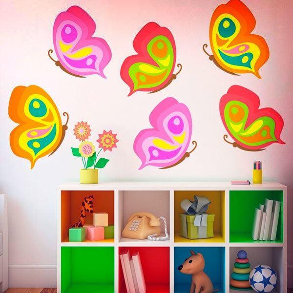 Stickers for Kids: Kit 6 butterflies