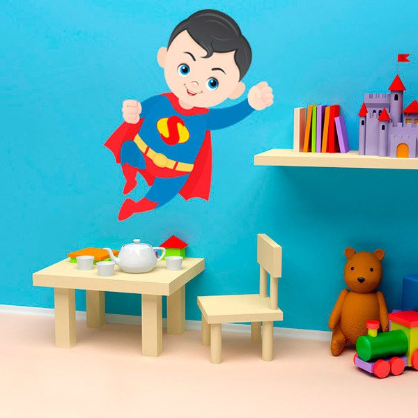 Stickers for Kids: Superman flying