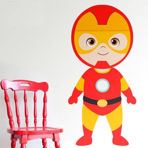 Stickers for Kids: Ironman standing