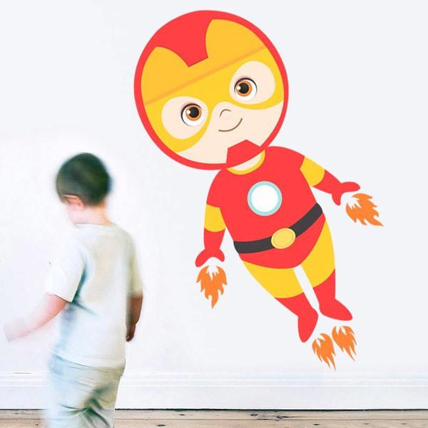 Stickers for Kids: Ironman flying
