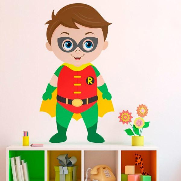 Stickers for Kids: Robin standing