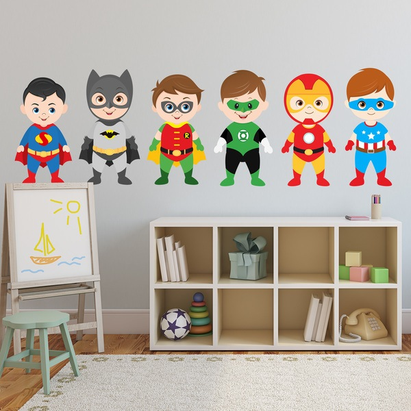 Stickers for Kids: Kit heroes standing