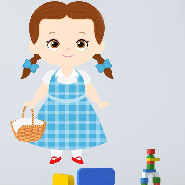 Stickers for Kids: Dorothy Wizard of Oz basket