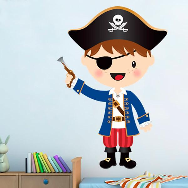 Stickers for Kids: The little pirate gun