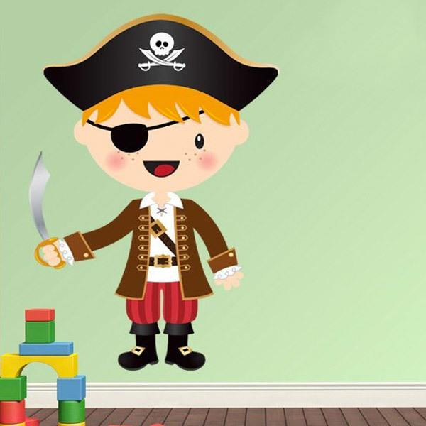 Stickers for Kids: The little pirate sword