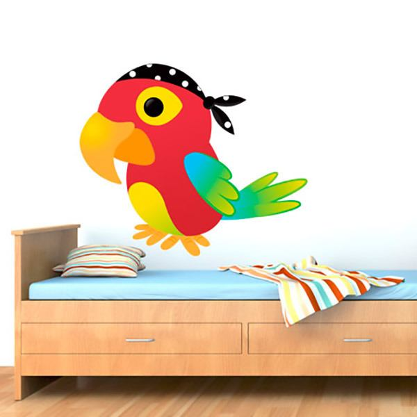 Stickers for Kids: Pirate parrot