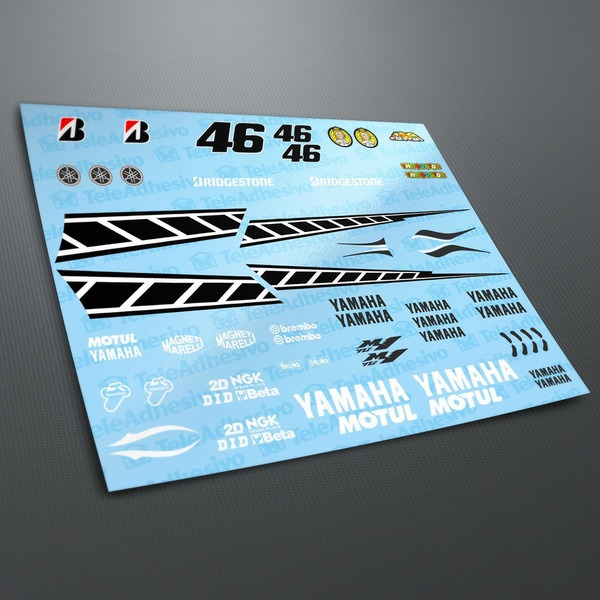 Car and Motorbike Stickers: Yamaha 50th Anniversary Laguna Seca 2005 Kit