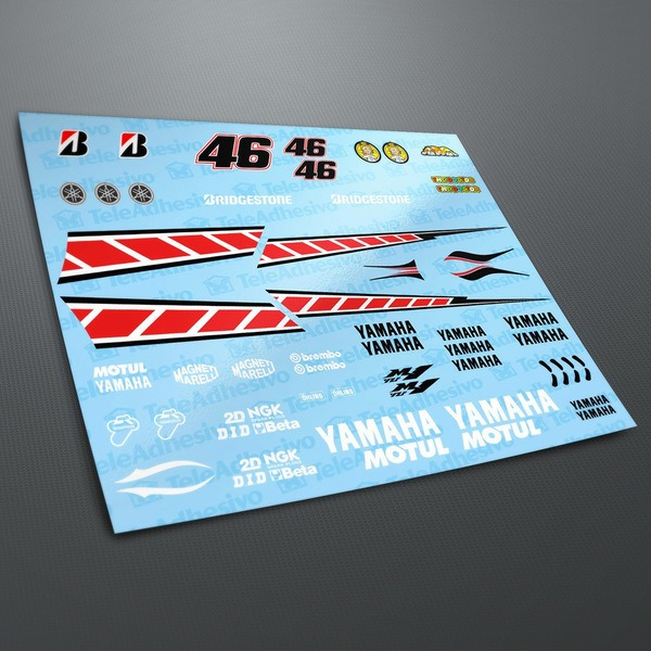 Car and Motorbike Stickers: Yamaha 50th Anniversary Valencia 2005 Kit