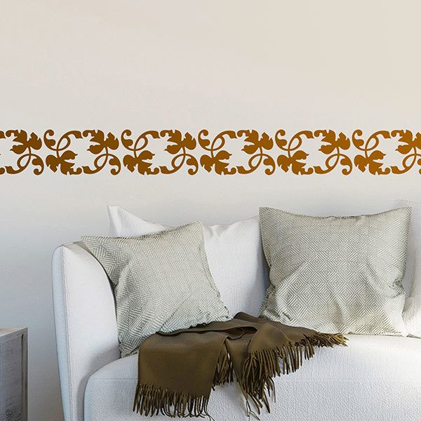 Wall Stickers: Wall border Vine Leaves