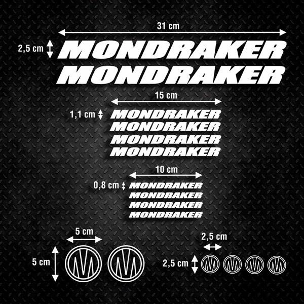 Car and Motorbike Stickers: Kit MTB Mountain Bike Mondraker 3