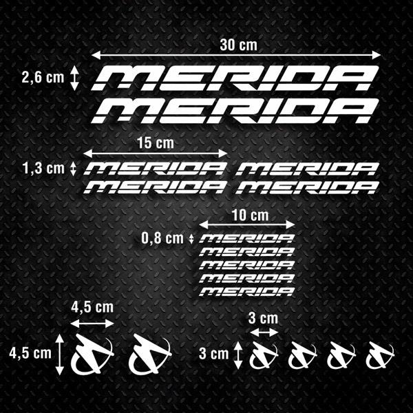 Car and Motorbike Stickers: Kit MTB Mountain Bike Merida 1