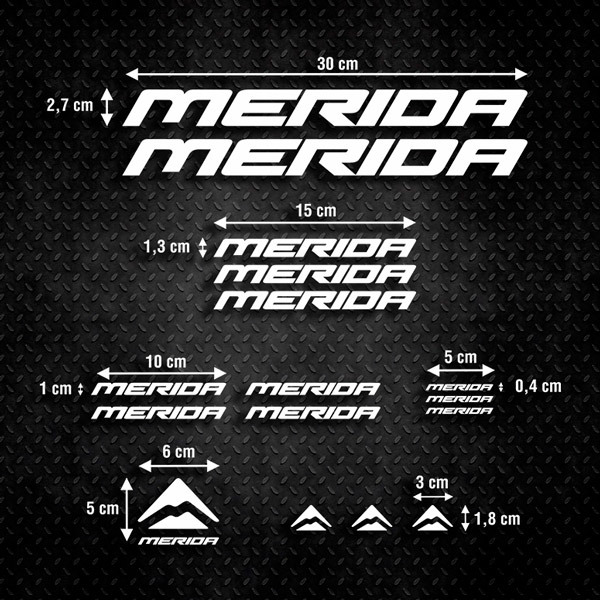 Car and Motorbike Stickers: Kit MTB Mountain Bike Merida 2