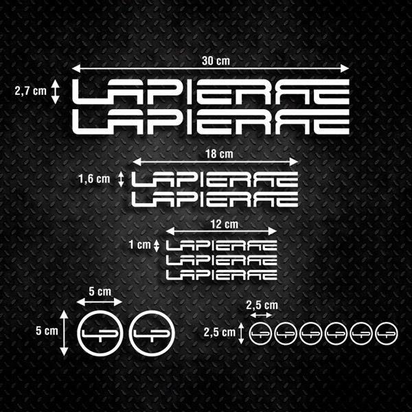 Car and Motorbike Stickers: Kit MTB Mountain Bike Lapierre 1