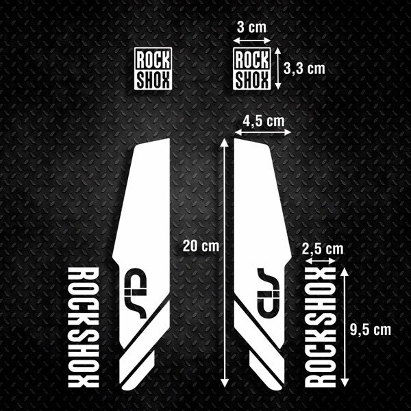 Car and Motorbike Stickers: Stickers Rock Shox Sid forks Mountain Bike B