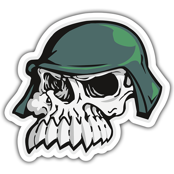 Car and Motorbike Stickers: Skull