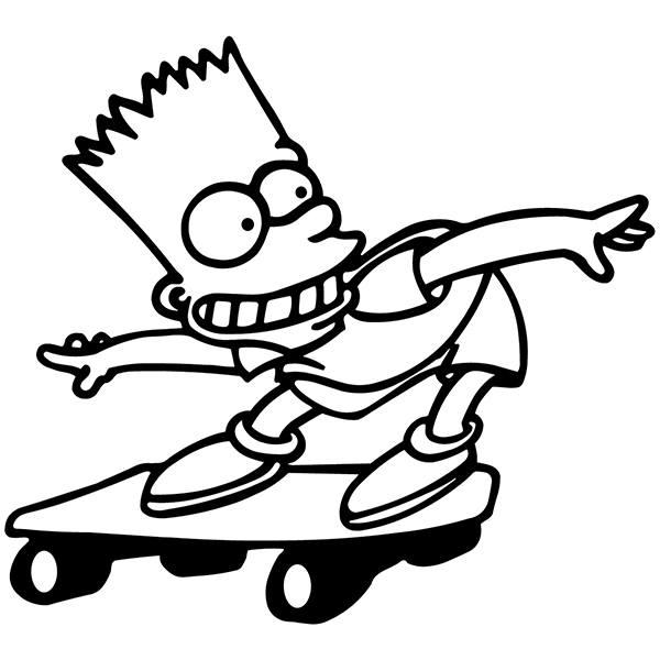 Car and Motorbike Stickers: Bart Skate