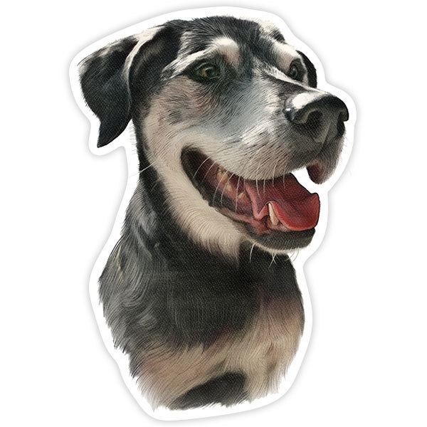Car and Motorbike Stickers: Black Great Dane