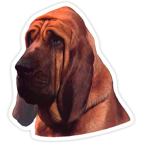 Car and Motorbike Stickers: Bloodhound