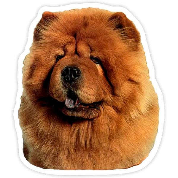Car and Motorbike Stickers: Red Chow Chow