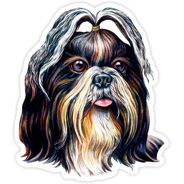 Car and Motorbike Stickers: Shih Tzu
