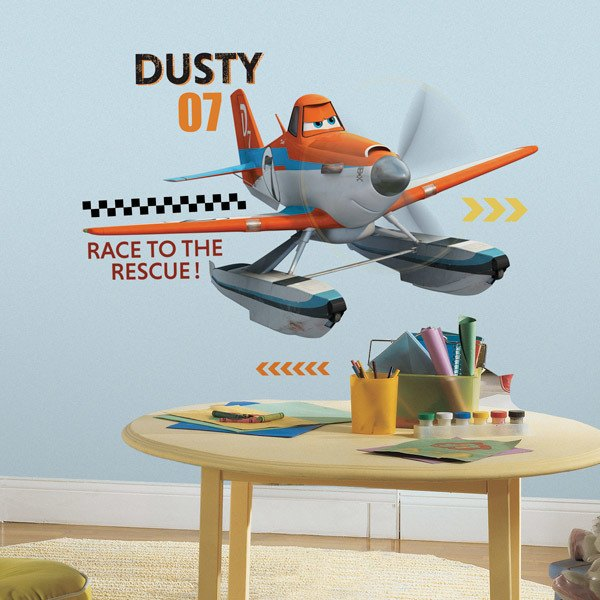 Stickers for Kids: Giant Wall Sticker Dusty Planes Fire and Rescue