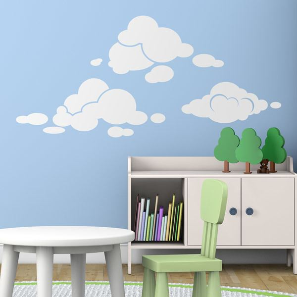 Wall Stickers: Vinyl clouds kit
