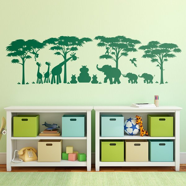 Stickers for Kids: Scene Jungle Animals