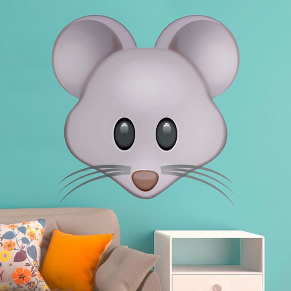 Wall Stickers: Mouse Face