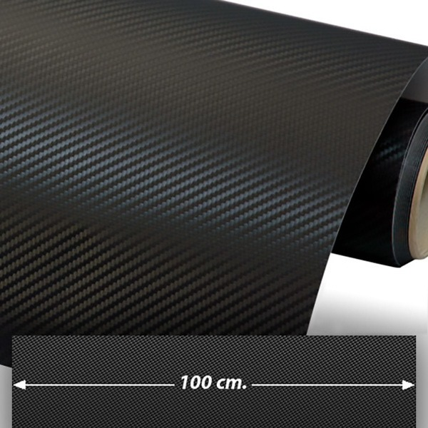 Car and Motorbike Stickers: Carbon fiber vinyl wrap 100cm